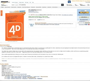 4D Leadership Bestseller UK Amazon Main Page