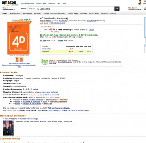 4D Leadership Bestseller USA Main Page
