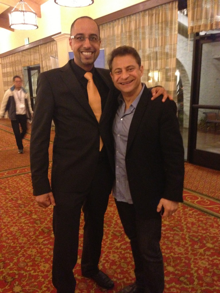 Dr. Hisham with Peter Diamandis Xprize